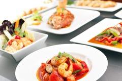 Variedad de comidas tailandesas Fotografía de archivo libre de regalías