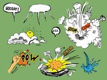Variedad de elementos del cómic Foto de archivo libre de regalías