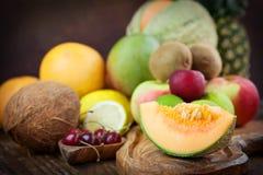 Variedad de fruta fotos de archivo