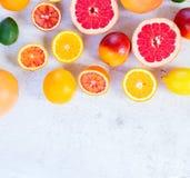 Variedad de frutas cítricas Foto de archivo