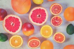 Variedad de frutas cítricas Fotografía de archivo