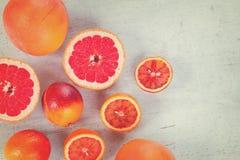 Variedad de frutas cítricas Imagen de archivo libre de regalías