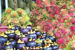 Variedad de frutas tropicales fotografía de archivo libre de regalías
