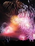 Variedad de fuegos artificiales Foto de archivo libre de regalías