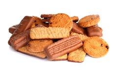 Variedad de galletas con el chocolate Fotos de archivo libres de regalías