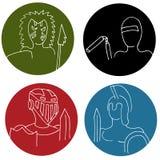 Variedad de guerreros Imagen de archivo libre de regalías