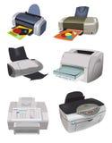 Variedad de impresoras Fotos de archivo