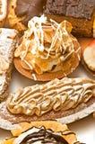 Variedad de la calidad de tortas Fotografía de archivo
