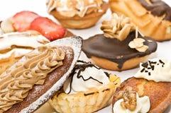 Variedad de la calidad de tortas Imágenes de archivo libres de regalías
