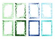 Variedad de la frontera del vector de la naturaleza Fotografía de archivo libre de regalías