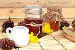 Variedad de la miel con el panal Fotografía de archivo libre de regalías