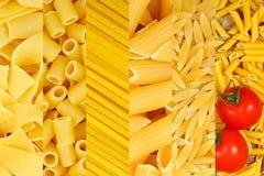Variedad de las pastas Imagen de archivo