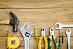 Variedad de manitas Tools Imágenes de archivo libres de regalías