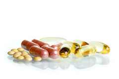 Variedad de píldoras Fotos de archivo