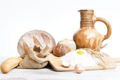 Variedad de pan, ingrediens del pan Imagenes de archivo