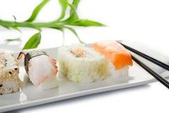 Variedad de sushi Fotos de archivo