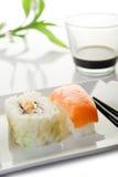 Variedad de sushi Foto de archivo libre de regalías