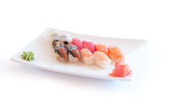 Variedad de sushi delicioso imagen de archivo libre de regalías