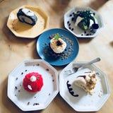 Variedad de tortas Imagenes de archivo