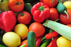 Variedad de verduras frescas Fotos de archivo