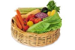 Variedad de verduras frescas Fotografía de archivo libre de regalías