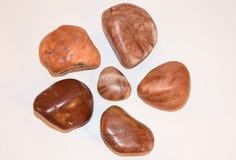 Variedad del rojo de Gastroliths Imagen de archivo