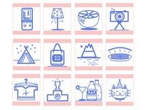 Variedade agradável de ícones para você ilustração royalty free