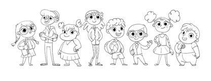 Variedade bonito de crianças ilustração royalty free