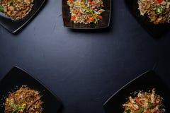 Variedade caseiro tradicional oriental das refeições fotografia de stock