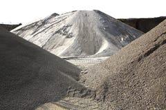 Variedade colorida da pedreira do monte da areia da construção fotos de stock royalty free