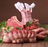 Variedade da carne crua Fotografia de Stock Royalty Free