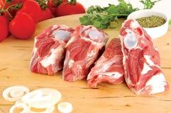 Variedade da carne crua Foto de Stock