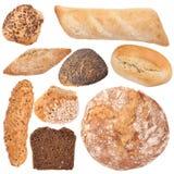 Variedade da coleção cozida do pão Imagem de Stock