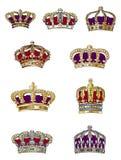 Variedade da coroa Fotos de Stock