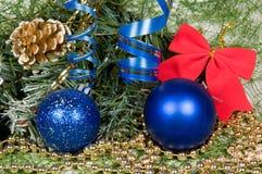 Variedade da decoração do Natal Fotografia de Stock
