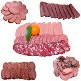 Variedade da salsicha. imagens de stock