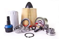 Variedade das auto peças de motor Fotografia de Stock
