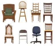 Variedade das cadeiras Foto de Stock Royalty Free