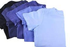 Variedade das camisas Fotografia de Stock