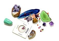 Variedade das pedras preciosas Imagem de Stock