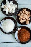 Variedade de açúcar Imagens de Stock Royalty Free