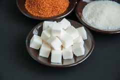 Variedade de açúcar Fotografia de Stock Royalty Free