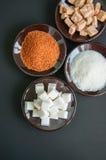 Variedade de açúcar Imagens de Stock