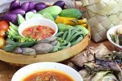 A variedade de alimento do norte de Tailândia Fotografia de Stock