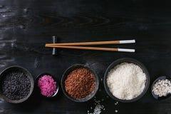 Variedade de arroz colorido Fotos de Stock