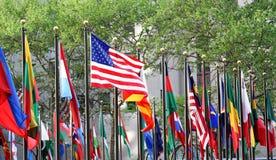 Variedade de bandeiras Foto de Stock Royalty Free
