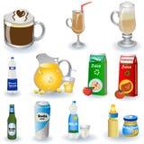 Variedade de bebidas ilustração do vetor