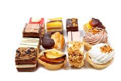 Variedade de bolos deliciosos Foto de Stock Royalty Free