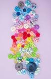 Variedade de botões coloridos Imagens de Stock Royalty Free