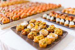 Variedade de canapes Foto de Stock Royalty Free